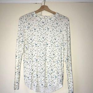 Aerie Linen Flower Shirt